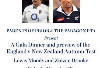 Rugby Gala Dinner on 7 November desc