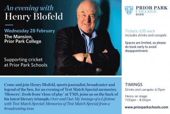 Welcoming Henry Blofeld to PPC 28 Feb 2018 desc